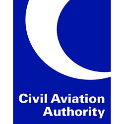 Civil Aviation Authority blue logo